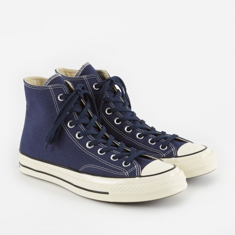 1970s Chuck Taylor All Star Hi - Midnight Navy/Black/Eg