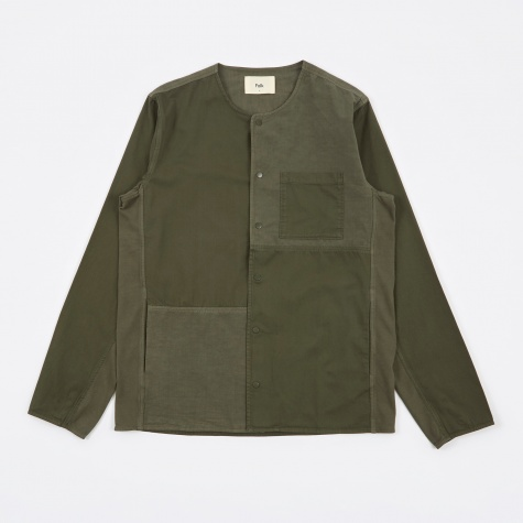 Combination Pop Stud Shirt - Field Green