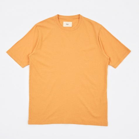 Contrast Sleeve Tee - Bitter Orange