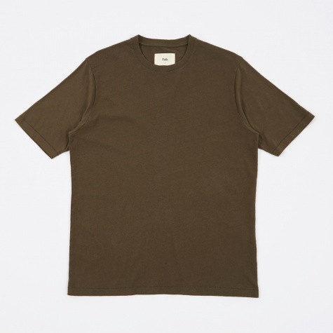 Contrast Sleeve Tee - Military Green