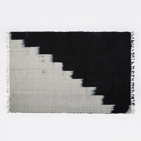 Francisco Black & White Stairstep Handwoven Ru