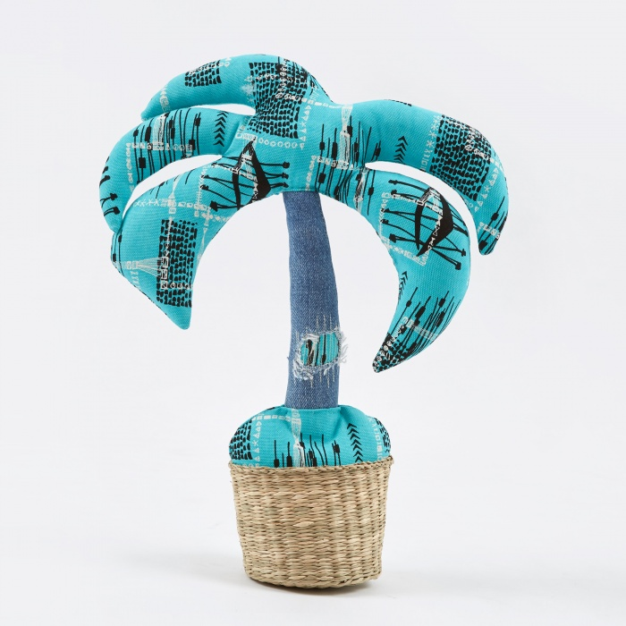 Made By Seven Cushion Plant Palm Tree - Style 1 (Image 1)