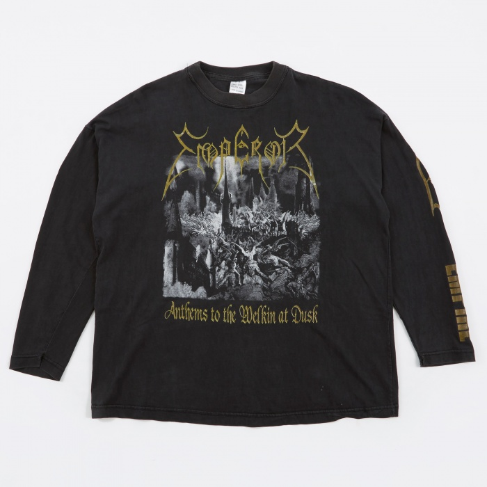 Goodhood x Teejerker Emperor 1997 Anthem To The Welkin at Dust L/S T-Shirt - Black (Image 1)