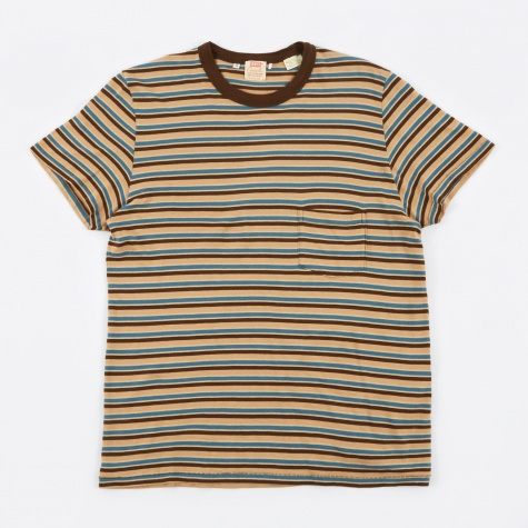 1960s Casual Stripe T-Shirt - Taos Blue