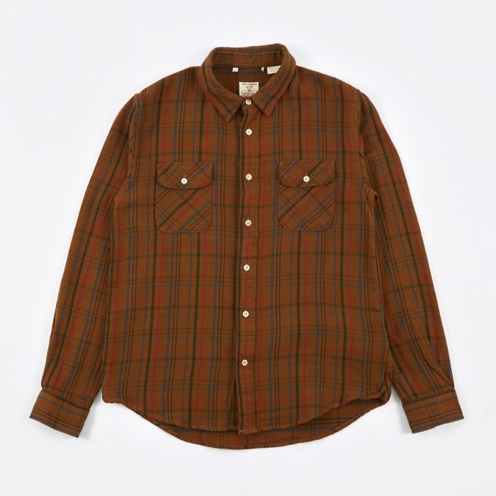 Levi's Vintage Clothing Shorthorn Shirt - Coffee Brown (Image 1)
