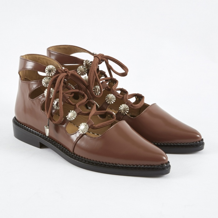 Toga Pulla Lace Up Boot - Brown Polido (Image 1)