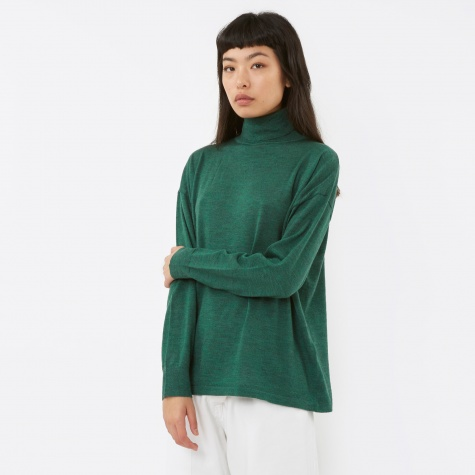 Polo Knit Jumper - Forest