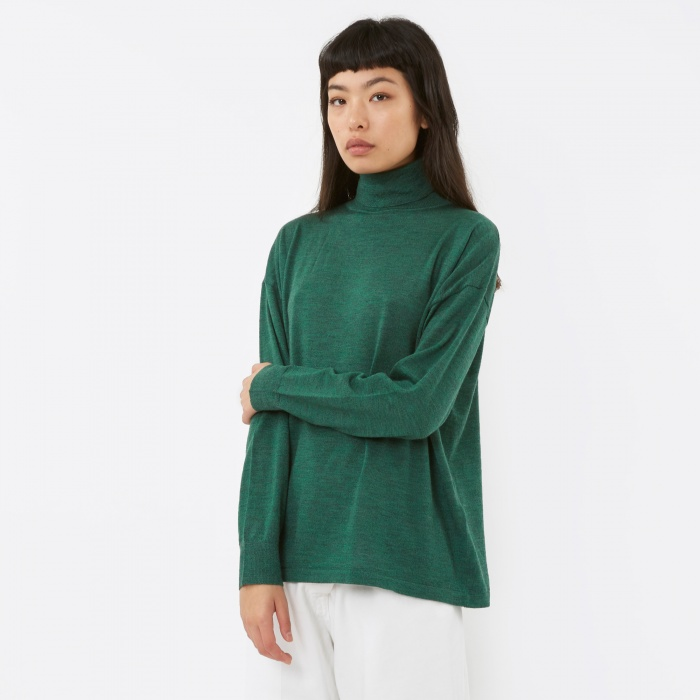 LF Markey Polo Knit Jumper - Forest (Image 1)