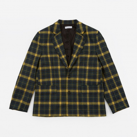 Wool Check Jacket - Yellow