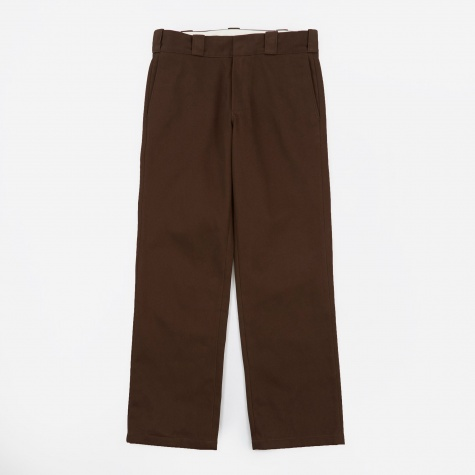 Cotton Straight Pant - Brown