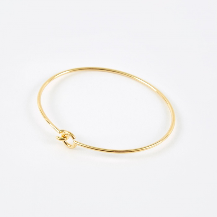 Maria Black Hook Bangle - 14K Gold Plated (Image 1)