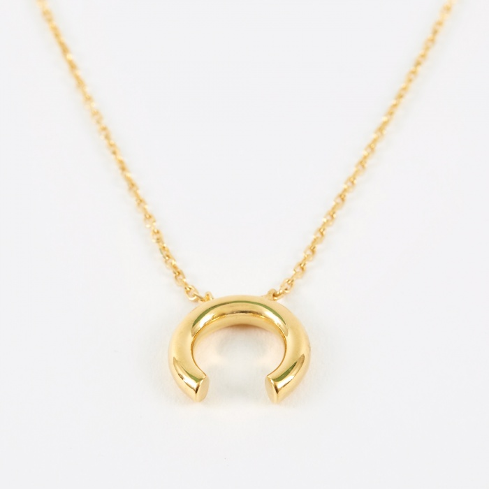 Maria Black Disrupted Necklace - 14K Gold Plated (Image 1)