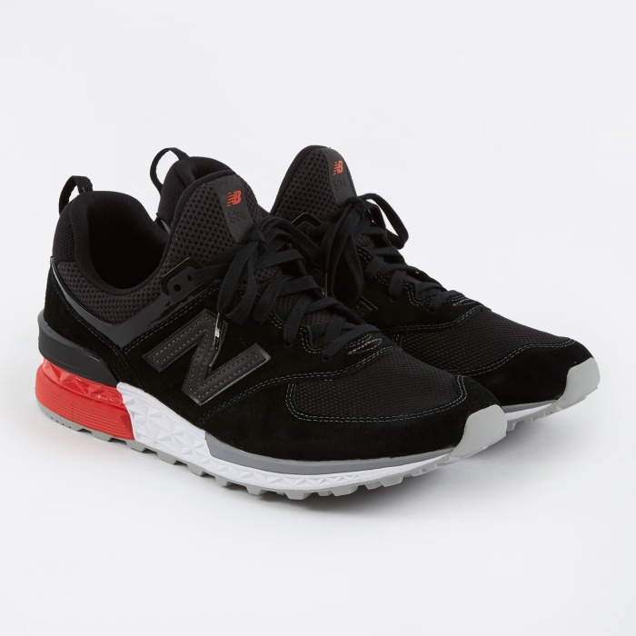 New Balance MS574AB 574 S Shoe - Black (Image 1)