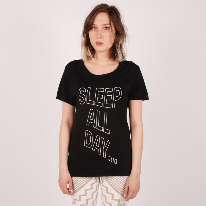 Perks & Mini PAM More Sleep Tee - Black (Image 1)