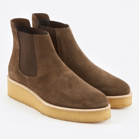 Clarks Ornella Chelsea Boot - Peat Suede