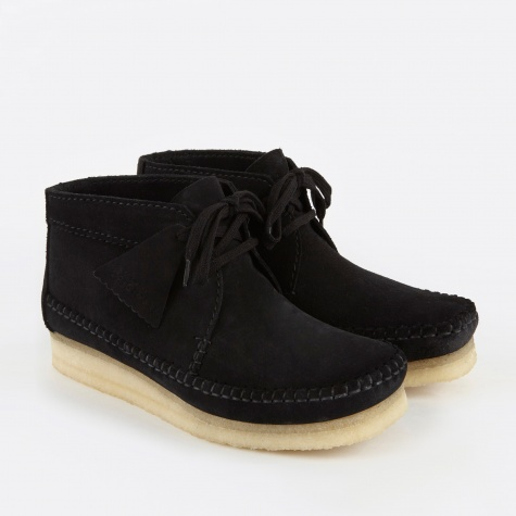 Clarks Weaver Boot - Black Suede