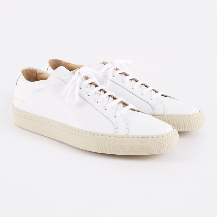 Common Projects Achilles Low Coloured Sole - White/Off White (Image 1)