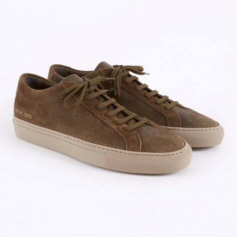 Achilles Low Waxed Suede - Olive