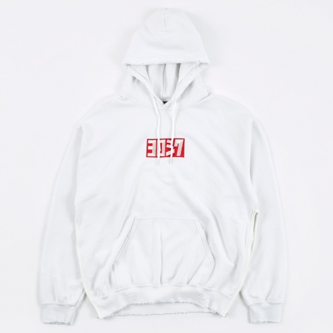 Yoroshiku Damage Hooded Parka - White