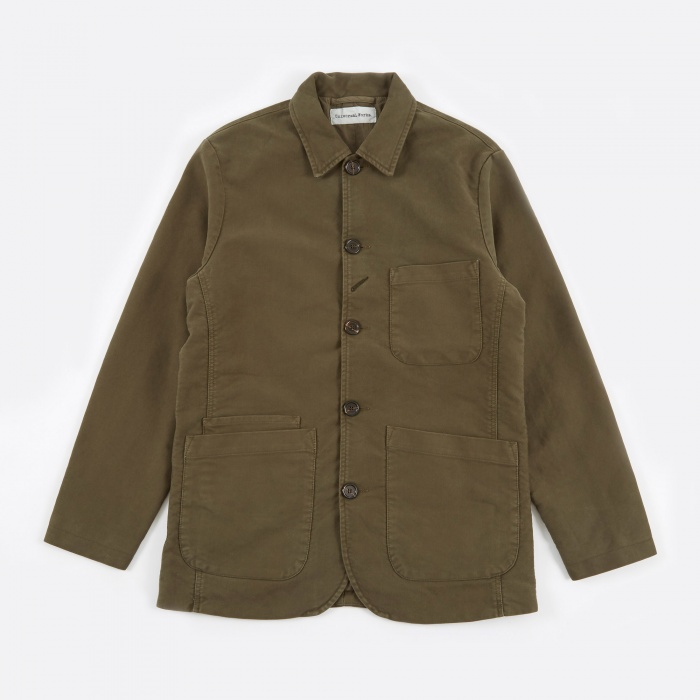 Universal Works Bakers Jacket Long - Satin Twill (Image 1)