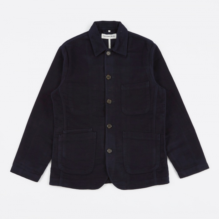 Universal Works Bakers Jacket - Navy (Image 1)