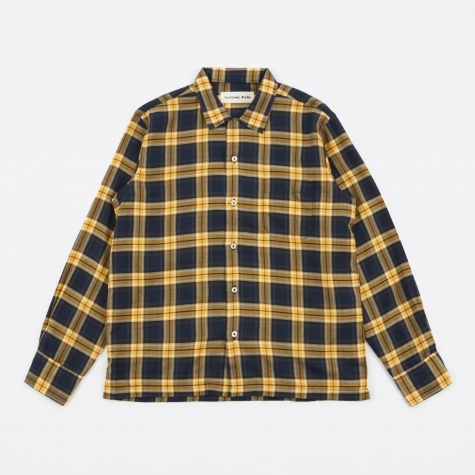 Garage Shirt Himalaya Check - Gold/Navy
