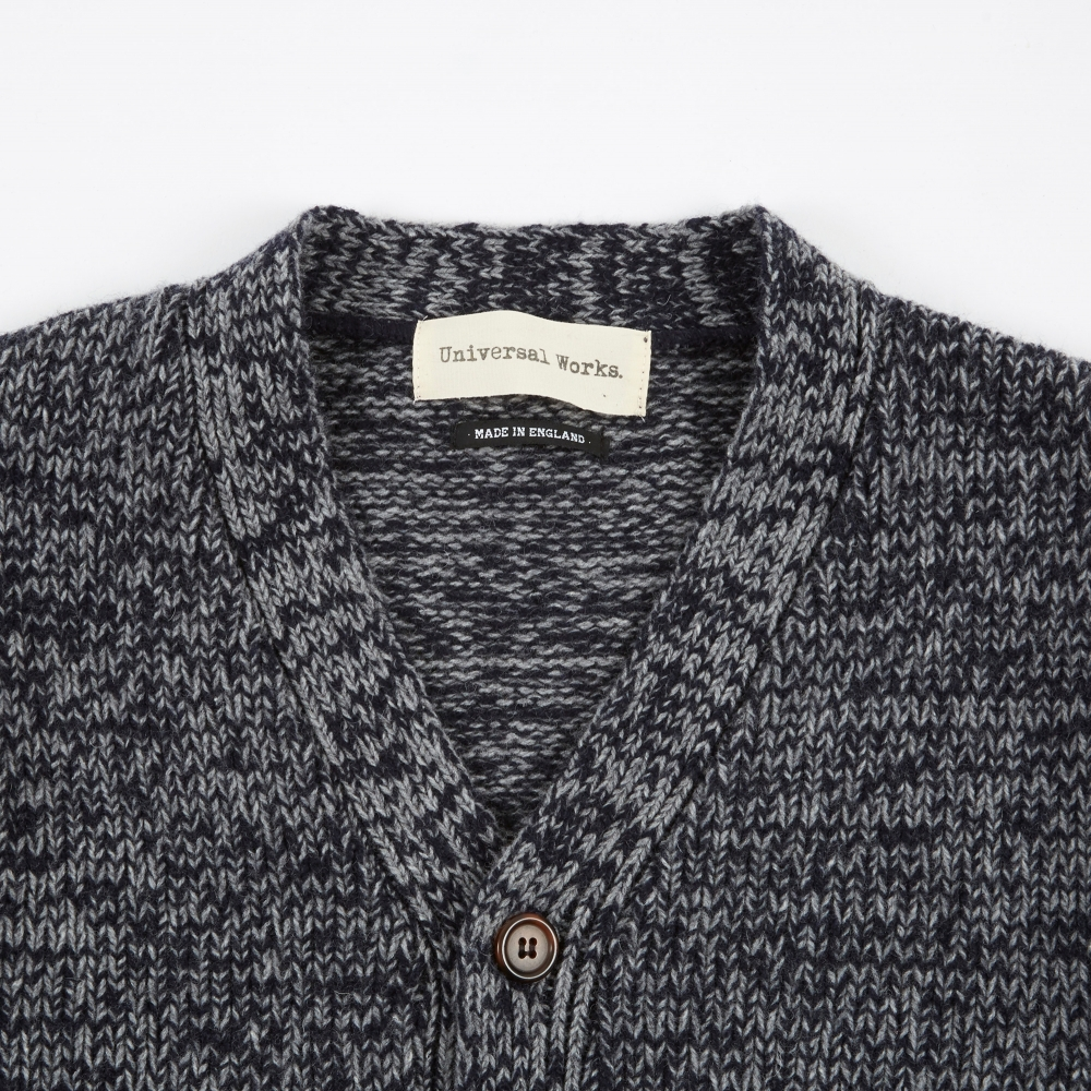 Universal Works Soft Wool Cardigan - Navy