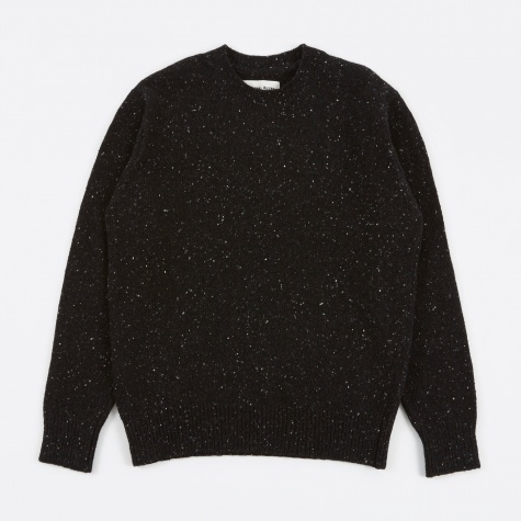 Loose Fisherman Jumper - Charcoal