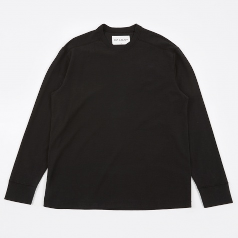 Archive Longsleeve - Washed Black Compact Cotton