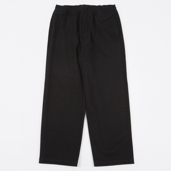 Our Legacy Draped Trousers - Black Carded Wool (Image 1)