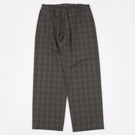 Draped Trousers - Grey Fine Tartan