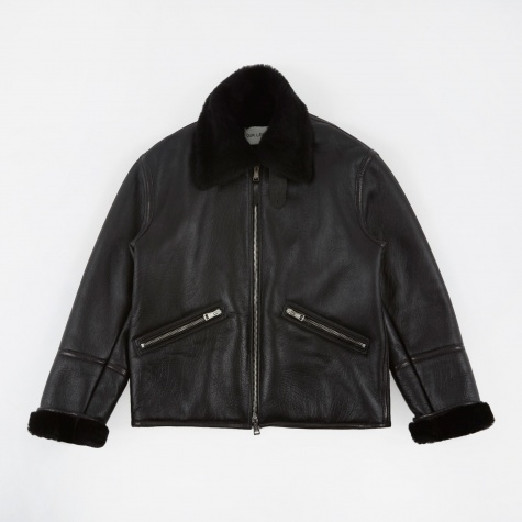 Flight Jacket - Black Shearling