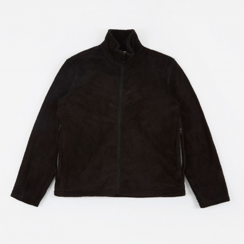 Funnel Blouson - Black Polarfleece