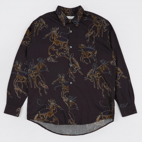 Initial Shirt - Rodeo Black Print