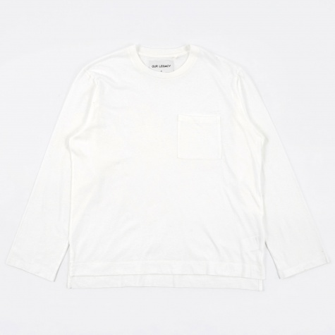 Box Longsleeve T-Shirt - White Army Jersey