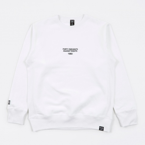 Since Crew Neck Sweatshirt - White