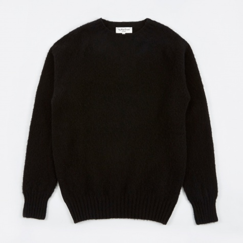 Suedehead Brushed Crew Knit - Black