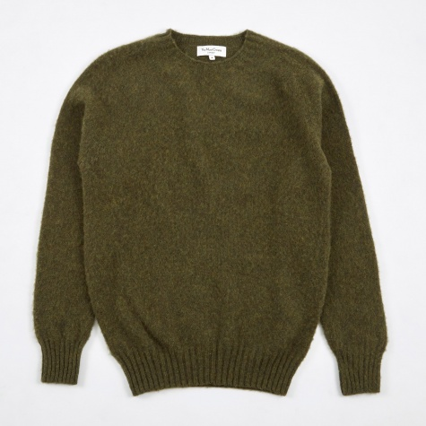 Suedehead Brushed Crew Knit - Green