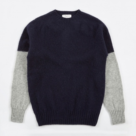 Skate or Die Brushed Crew Knit - Navy/Silver