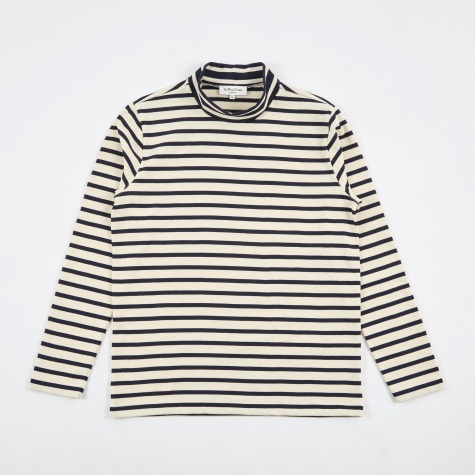 Chino Turtle Neck - Ecru/Navy