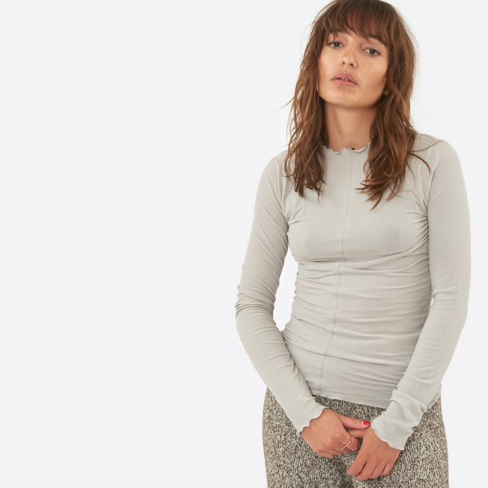 Baserange Lege Long Sleeve Top - Concrete Grey (Image 1)