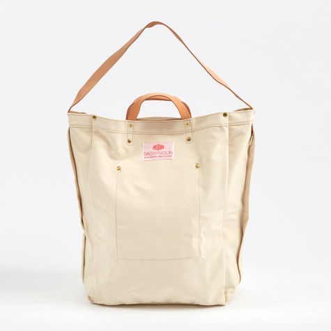 Large Quality Canvas Tool Bag- Natural