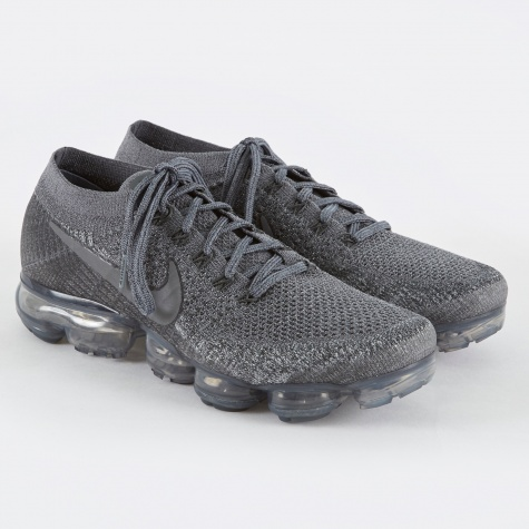 NikeLab Air Vapormax Flyknit Shoe - Cool Grey/Dark Grey