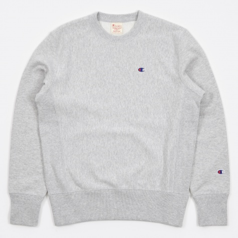 Reverse Weave Crew Neck Sweatshirt - Grey