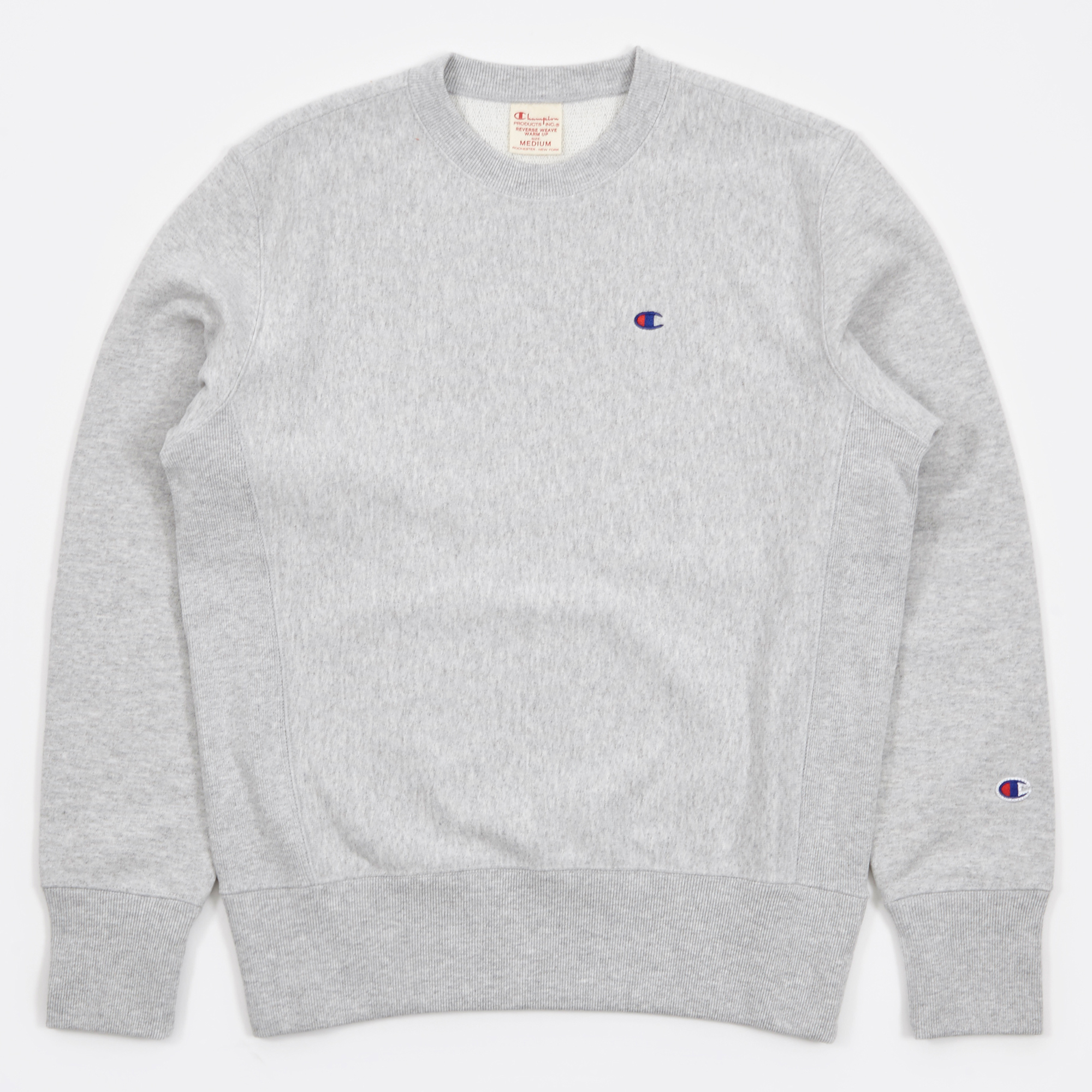 Champion Reverse Weave Crew Neck Sweatshirt - Grey