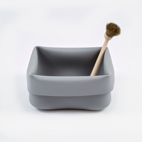 Washing-up Bowl & Brush - Grey