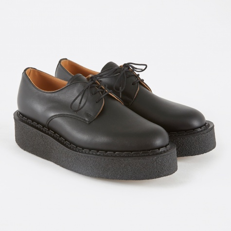 Leather Creeper Shoe - Black