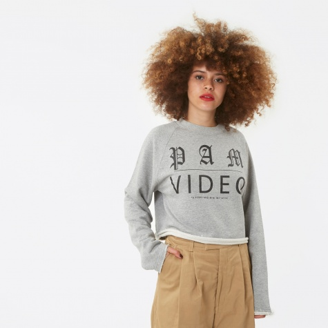 PAM Perks And Mini Video Cropped Sweat - Grey Marle