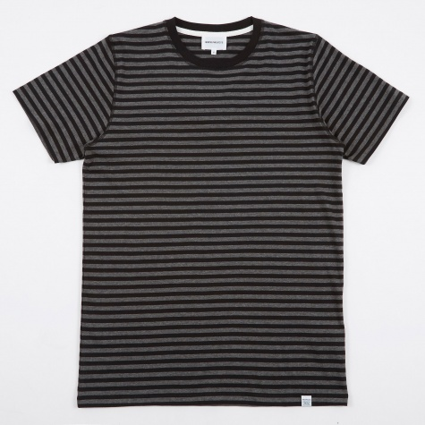 Niels Military Stripe T-Shirt - Black/Grey Melang