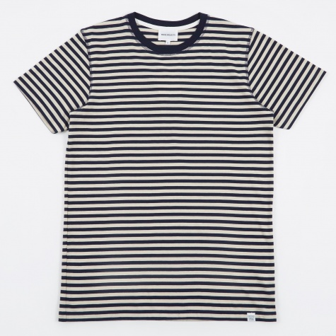 Niels Military Stripe T-Shirt - Kit White/Navy